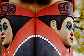 folk art stock photography | Alaska, Anchorage, Totem pole, Alaskan Native Heritage Center, image id 5-650-654