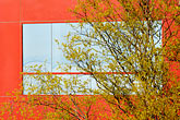 reflection stock photography | Alaska, Anchorage, Office building and trees, image id 5-650-826