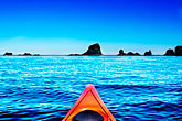 canoes stock photography | Alaska, Kodiak, Kayaking in Monashka Bay, image id 5-650-9