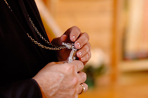 image 5-650-966 Alaska, Kodiak, Russian Orthodox priest