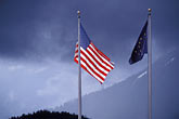 united states and alaska flags stock photography | Alaska, Petersburg, United States and Alaska flags, image id 7-198-6
