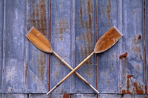 image 7-209-26 Alaska, Sitka, Crossed oars