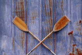 western wall stock photography | Alaska, Sitka, Crossed oars, image id 7-209-26