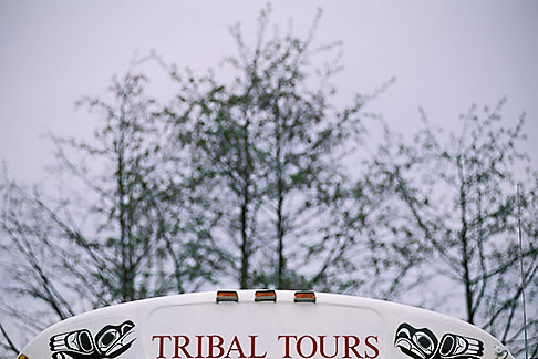 image 7-210-15 Alaska, Sitka, Tour bus