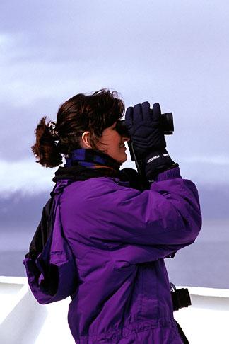 image 7-233-37 Alaska, Inside Passage, Passenger on deck