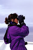 binocular stock photography | Alaska, Inside Passage, Passenger on deck, image id 7-233-37