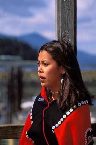 image 7-252-3 Alaska, Ketchikan, Tsimshian woman, Metlakatla Island
