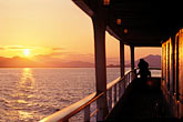 deck stock photography | Alaska, Inside Passage, Sunset from cruise ship, image id 7-253-9