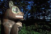 mammal stock photography | Alaska, Inside Passage, Totem pole, Kasaan, image id 8-321-32