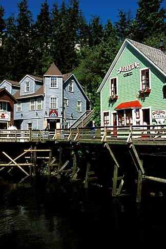 image 8-379-10 Alaska, Ketchikan, Historic section, Old Town