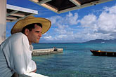 one man only stock photography | Anguilla, Straw Hat restaurant, chef Marc Alvarez, image id 0-101-43