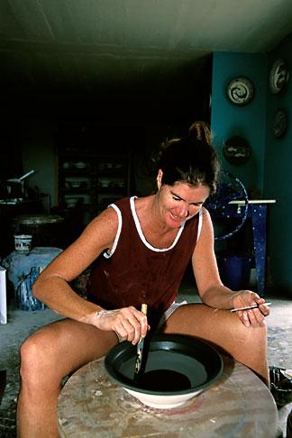 image 4-600-34 Antigua, English Harbor, Nancy Nicholson, potter