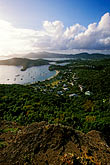 elevated view stock photography | Antigua, English Harbor, Shirley Heights, view over harbor, image id 4-600-39