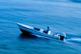 blurred motion stock photography | Antigua, English Harbor, Motorboat, image id 4-600-7