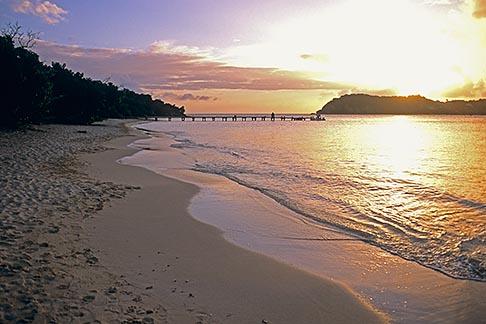 image 4-600-83 Antigua, English Harbor, Pigeon Point Beach at sunset
