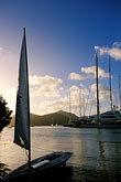 vertical stock photography | Antigua, English Harbor, Boats in Falmouth Harbor, image id 4-601-94