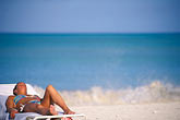 seashore stock photography | Antigua, Jolly Harbor, Woman sunbathing, image id 4-602-19