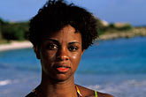 portrait of a woman stock photography | Antigua, Half Moon Beach, portrait, image id 4-602-53
