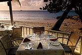 table setting stock photography | Antigua, Dickenson Bay, Coconut Grove Restaurant, image id 4-602-80