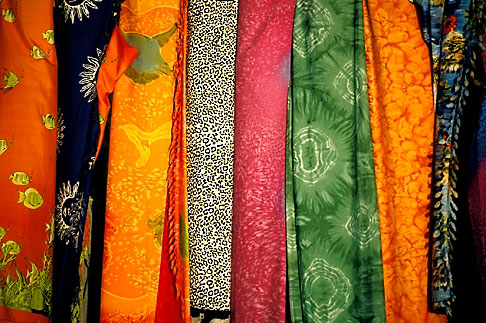 image 4-602-95 Textiles, Colored fabrics, Caribeean market