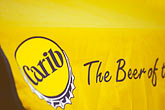 yellow stock photography | Antigua, Carib beer, image id 4-604-40