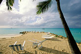 laid back stock photography | Antigua, Dickenson Bay, Palm and beach, image id 4-604-48