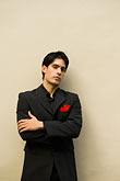 color stock photography | Argentina, Buenos Aires, Tango dancer, solo portrait, young man, image id 8-801-5872