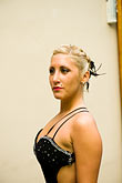 color stock photography | Argentina, Buenos Aires, Tango dancer, solo portrait, young woman, image id 8-801-5945