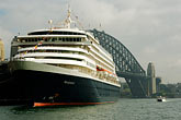 sydney harbour bridge stock photography | Australia, Sydney, Circular Quay, Cruise ship, image id 5-600-1430