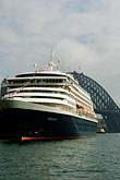 sydney harbour bridge stock photography | Australia, Sydney, Circular Quay, Cruise ship, image id 5-600-1432