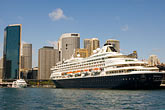 downtown skyscraper stock photography | Australia, Sydney, Circular Quay, Cruise ship, image id 5-600-1496