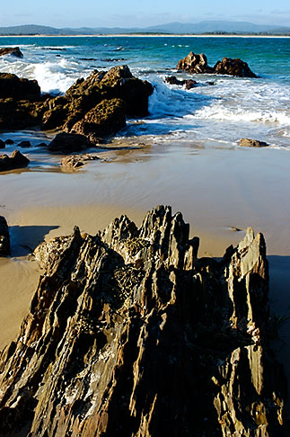 image 5-600-1896 Australia, Victoria, Mallacoota, Rock formations on beach