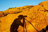 rock art stock photography | Australia, Victoria, Photographer shadow, image id 5-600-1927
