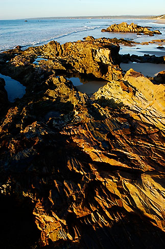 image 5-600-1932 Australia, Victoria, Mallacoota, Rock formations on beach