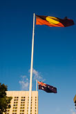 image 5-600-2348 Australia, Adelaide, Flags of Australia and Aboriginal People