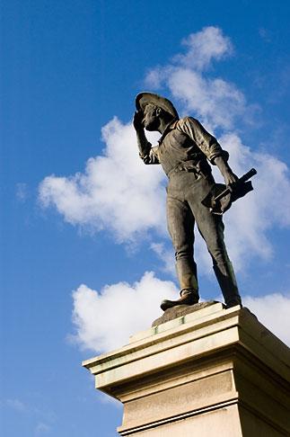 image 5-600-2408 Australia, Adelaide, Statue of Australian settler
