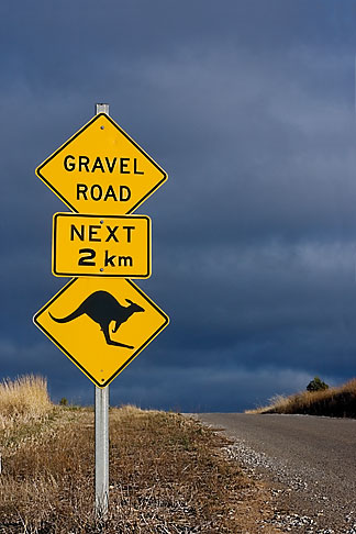 image 5-600-2541 Australia, Kangaroo crossing sign