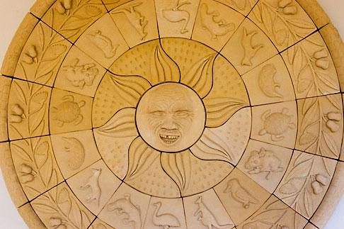image 5-600-2609 Australian Art, Sun sign