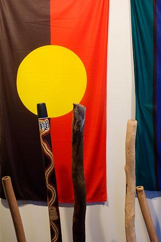 image 5-600-2647 Australia, Adelaide, Aboriginal Flag