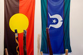exhibit stock photography | Australia , Aboriginal Flag, image id 5-600-2649