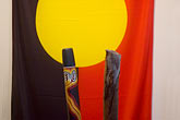 colour stock photography | Australian Art, Aboriginal Flag, image id 5-600-2655