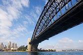 downtown skyscraper stock photography | Australia, Sydney, Sydney Harbour Bridge, image id 5-600-7863