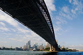 downtown skyscraper stock photography | Australia, Sydney, Sydney Harbour Bridge, image id 5-600-7869