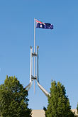 flag stock photography | Australia, Canberra, Parliament House, image id 5-600-8169