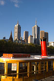 skyline stock photography | Australia, Melbourne, Boat on Yarra River, image id 5-600-8708