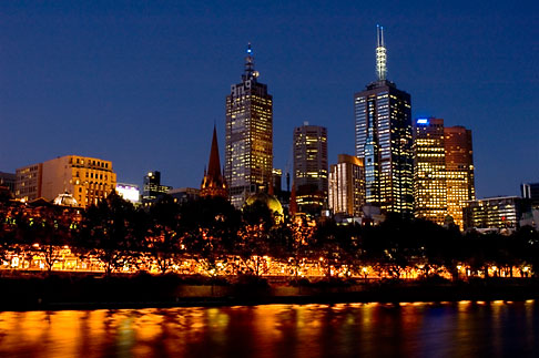 image 5-600-8764 Australia, Melbourne, Downtown skyline