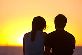 tranquil stock photography | Australia, South Australia, Couple watching sunset, image id 5-600-9160