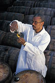 wine barrel stock photography | Barbados, Bridgetown, Jerry Edwards, master blender, Mount Gay Rum, image id 0-202-70