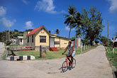 bicycle outside house stock photography | Barbados, St. Andrew, Street scene, Shorey, image id 0-203-14