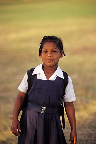 image 0-204-1 Barbados, Bridgetown, Schoolgirl